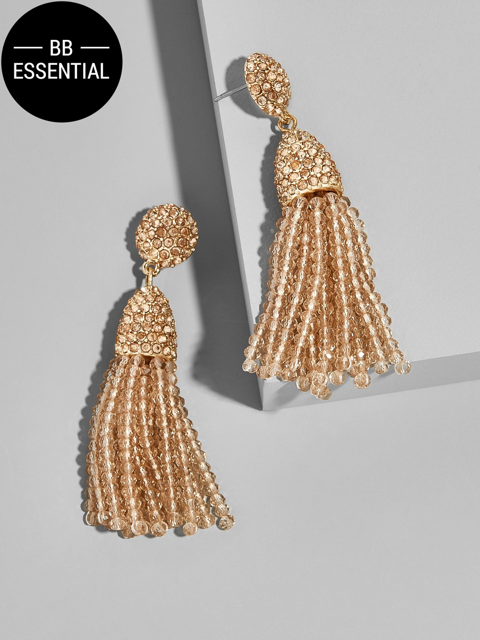 Gem Pinata Tassel Earrings