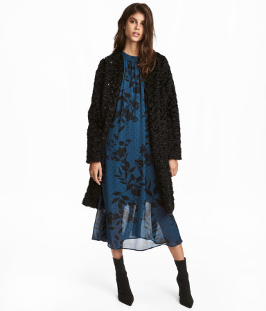 H and M Faux Fur Coat